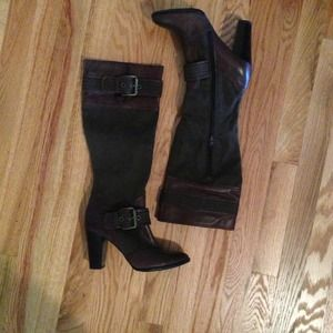 Nine West Boots - Nine West brown buckle boots size 6