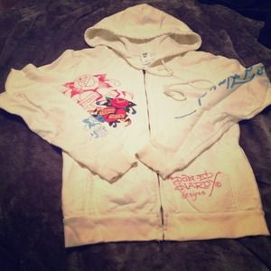 Ed Hardy Jackets & Blazers - ⚡️💰⬇ Ed hardy cream zip up hoodie!
