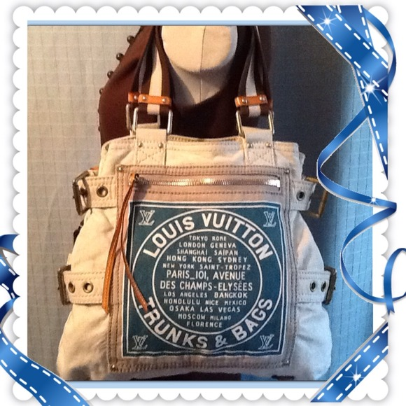 d65dc1457f Louis Vuitton Handbags - 🎯Louis Vuitton Globe Shopper Cabas MM Denim Tote
