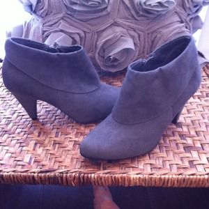 Boots - Grey booties size 7