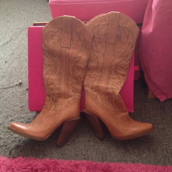 34% off Jessica Simpson Boots - Jessica Simpson tall cowboy boots ...