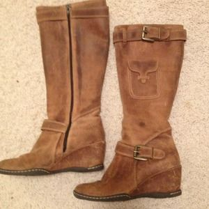 Ruff Hewn Boots - Ruff Hewn Leather Fashion knee-hi riding boots 7.5