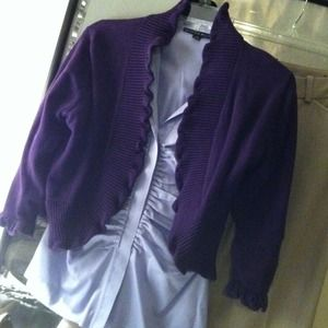 Dress Barn Sweaters - Pretty detailed purple sweater