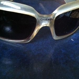 CHANEL Accessories - CHANEL  hand polished clear frame sunglasses