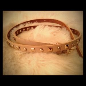 J. Crew Accessories - J.Crew Tan Studded Belt