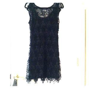 Anthropologie Black Lace Dress Size 6 BEST OFFER!