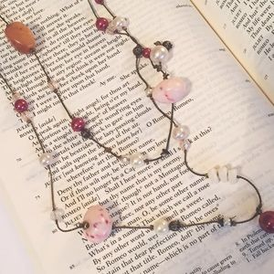 Jewelry - Pink Bead Double Strand Necklace