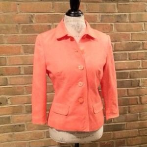 Jackets & Blazers - Apricot linen jacket 3/4 sleeve NOT SOLD