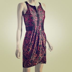 Reduced!Cynthia Steffe Floral Silk Zip-front Dress