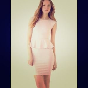 REDUCED! Alice & Olivia Peplum Dress (Ivory)