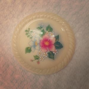 Jewelry - Vintage Avon Ceramic Flowered Brooch Pin