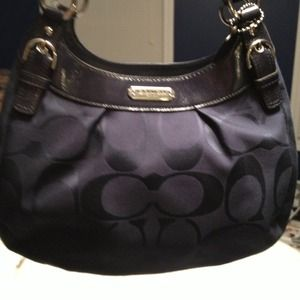 Coach Navy Soho Signature Hobo*
