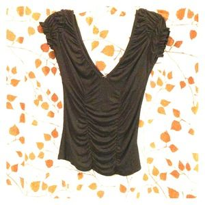 --TRADED--Black Deep V Top and COH jeans SZ 27""