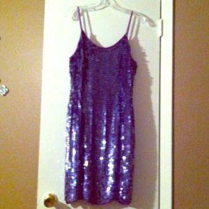 Purple Sequin Dress - L