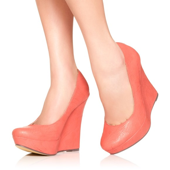 JustFab Shoes - Aneesa Coral Wedge