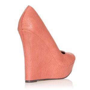 JustFab Shoes - Aneesa Coral Wedge