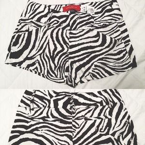 ShopAkira Shorts - 🚫SOLD🚫Satin Woven Zebra Stripe Shorts
