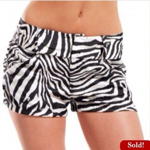 ShopAkira Pants - 🚫SOLD🚫Satin Woven Zebra Stripe Shorts