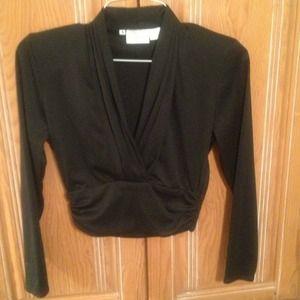 Tops - Anne Klein crop top blouse