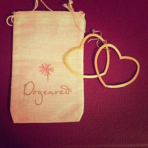 Authentic Dogeared heart earrings.Brand-new!