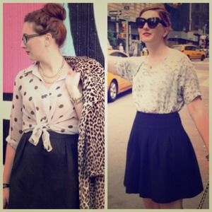 Bundle for @emcminahan black skirt & polka dot top