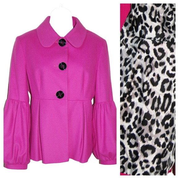 Helene Berman London Jackets & Blazers - Helene Berman London PINK Balloon Sleeve Jacket