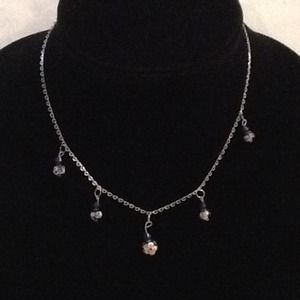 Jewelry - Silver toned necklace with cloisonné beads