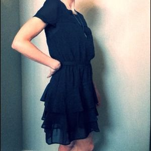 converse  Dresses & Skirts - RESERVED @rfawcett Adorable black ruffled dress