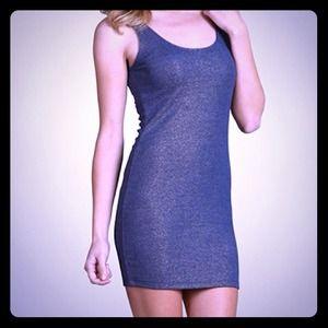 Blue Glitter Mini Dress