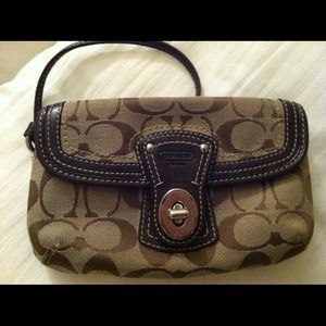 Coach Handbags - Authentic brown coach wristlet