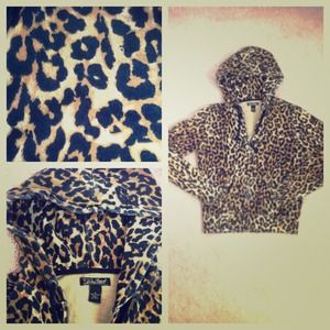 Lucky Brand Sweaters - Leopard print hoodie