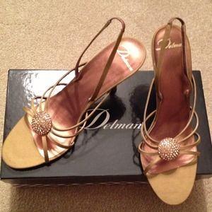Delman Shoes - Delman Embellished Sandals
