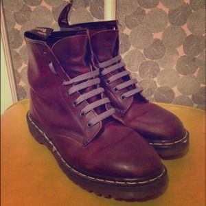 Original Dr. Martin boots - oxblood color leather