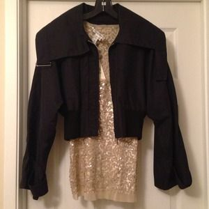 BCBG MaxAzria cropped kimono jacket