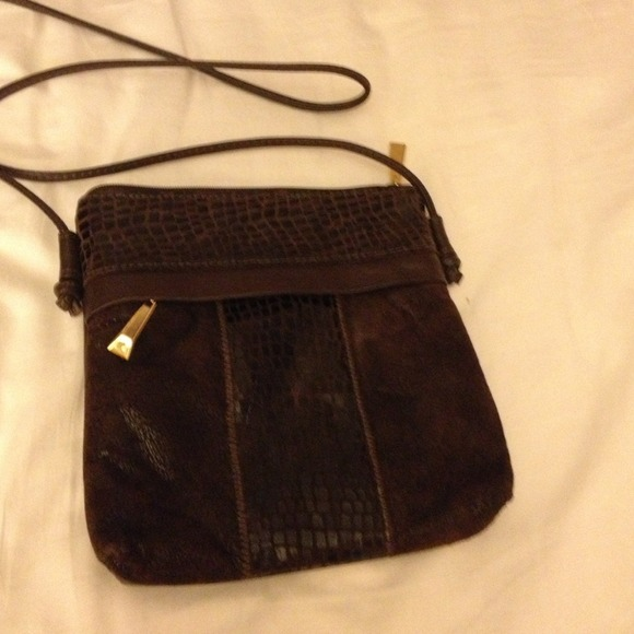 63% off Handbags - A brown leather over the shoulder purse from ...