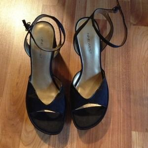 Nine West Shoes - Satin heels with ankle strap