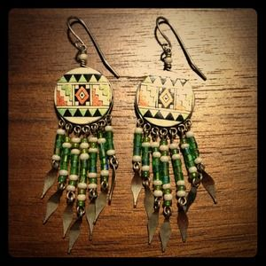 Jewelry - NWOT Aztec Earrings