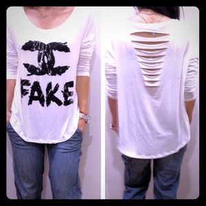 Tops - Trade marked CC with shredded back NEW STYLE