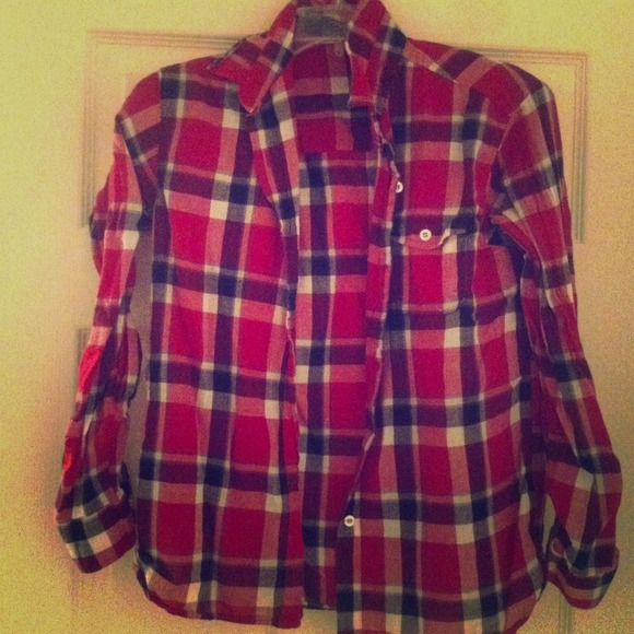 25 Off Tops Red White And Blue Flannel From Heather 39 S