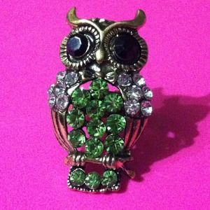 Jewelry - Green owl ring ❤