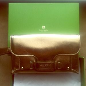 kate spade Clutches & Wallets - ⬇Reduced!!!⬇Kate Spade Metallic Clutch!!