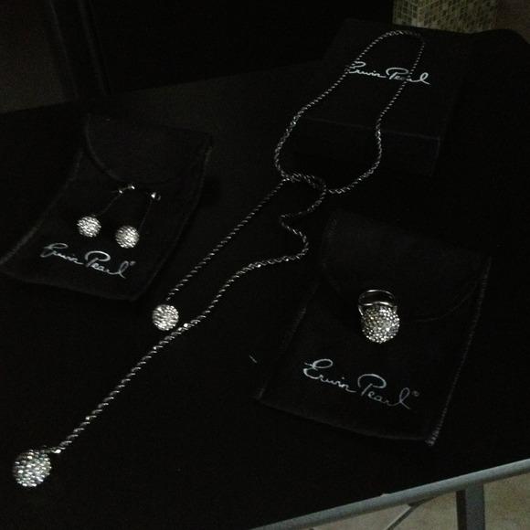 Erwin Pearl Jewelry - Erwin Pearl- 3 pc Neckless, earring & ring