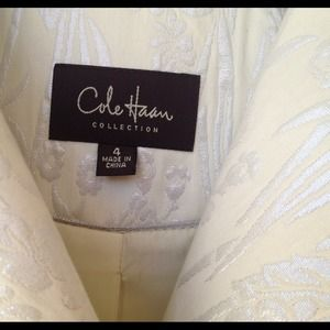 Cole Haan Collection Coat Ivory w/Brocade - Size 4