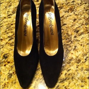 Yves Saint Laurent Shoes - 🔴Reduced🔴YSL black suede heels!!