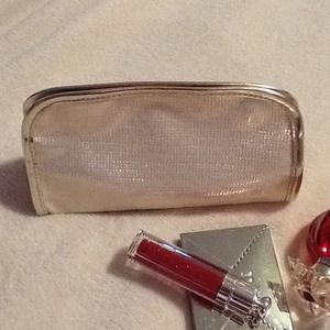 Handbags - Sparkly Gold Cosmetic Pouch