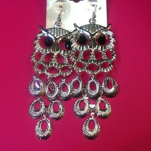 Jewelry - Silver owl earrings !