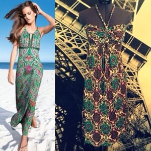 Printed halter dress. Worn once.