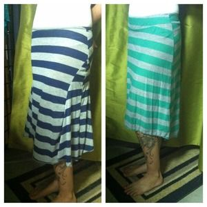 Dresses & Skirts - ✂SOLD✂  ✨NEW✨ Blue Striped Skirts