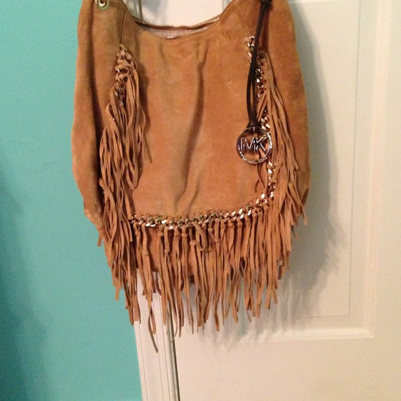 50% off Michael Kors Handbags - Michael kors suede fringe large ...