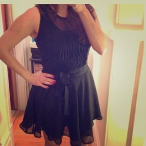 LBD!!!! Cutest ever! Flowy and sheer top!